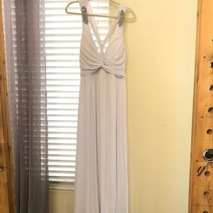White Formal / Bridal Dress with Silver Details